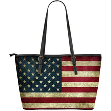 American Flag Large Leather Tote