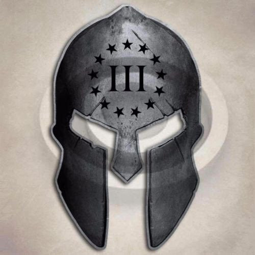 3 Percenter Spartan Helmet Sticker Gun Protection Bill of Rights Decal - FREE SHIPPING - Veteran Tees