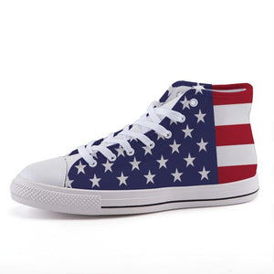 "American Flag ""Retro"" High Top Shoes"