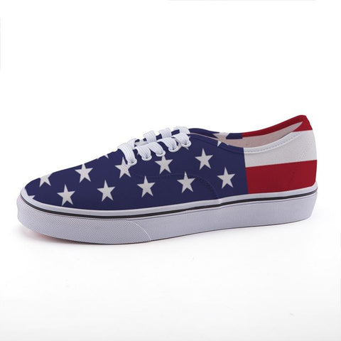 American Flag Beach Low Top Shoes