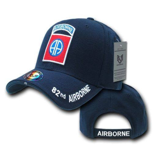 Blue 82nd Airborne Infantry Division US Army Military Baseball Cap ... d228042dae9
