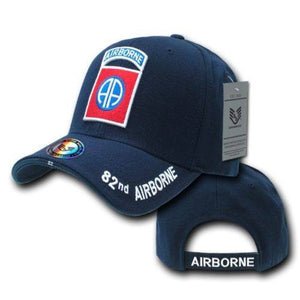 46745f9463e Blue 82nd Airborne Infantry Division US Army Military Baseball Cap -  Veteran Tees