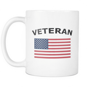 LIMITED EDITION Veteran American Flag Coffee Mug - Veteran Tees - 3