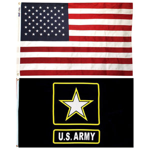 LIMITED EDITION US ARMY & AMERICAN FLAG COMBO - 70% OFF WHILE SUPPLIES LAST!