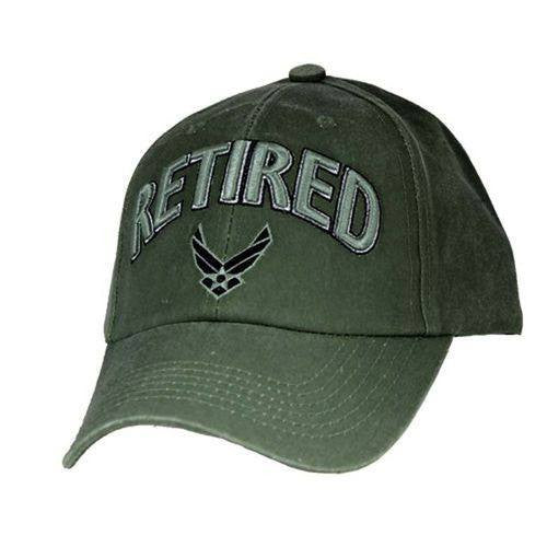 US AIR FORCE RETIRED - U.S.A.F. Officially Licensed Military Hat Baseball Cap - Veteran Tees