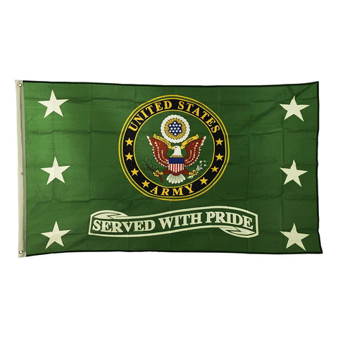 "LIMITED EDITION United States Army ""Served With Pride"" 3x5 Flag - 50% OFF WHILE SUPPLIES LAST! - Veteran Tees"