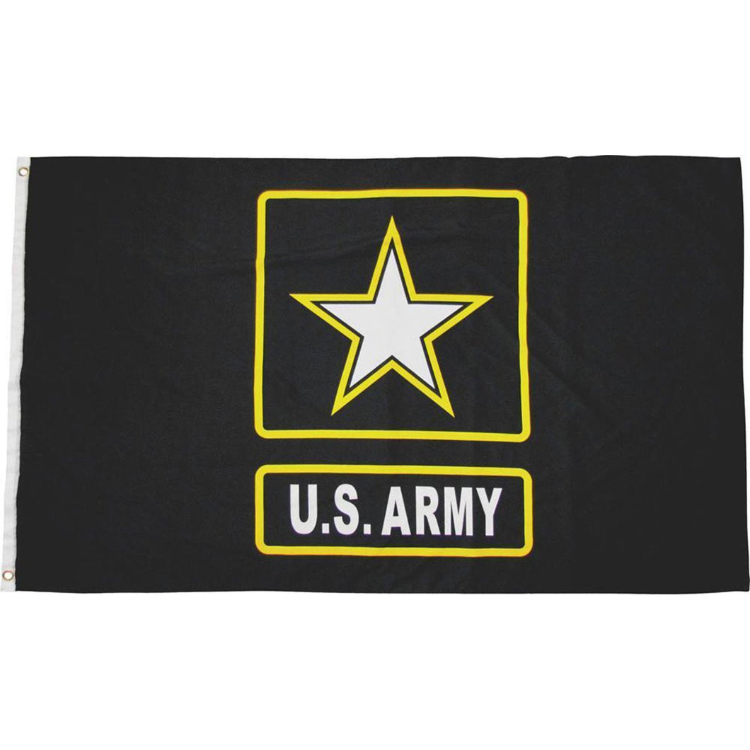LIMITED EDITION Black US Army Flag with Gold Star 3x5 - 50% OFF WHILE SUPPLIES LAST! - Veteran Tees