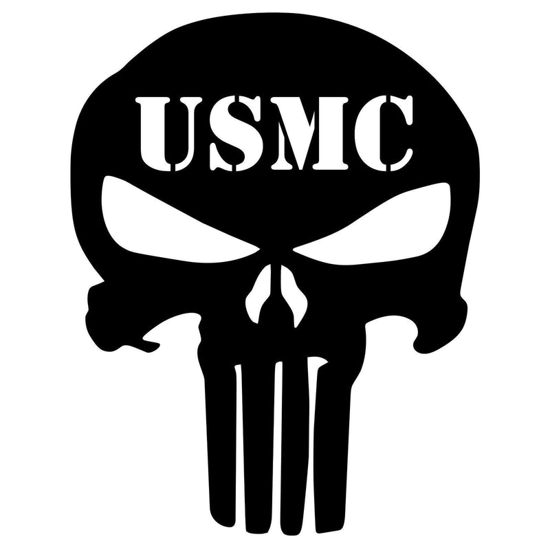 Limited Edition Usmc Punisher Skull Vinyl Decal 70 Off While