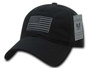 Exclusive USA American Flag Patch United States America Polo Baseball Hat - Veteran Tees - 2