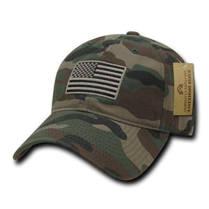 Exclusive USA American Flag Patch United States America Polo Baseball Hat - Veteran Tees - 3