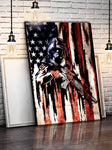"American Flag ""Honor"" Ready To Hang Canvas Painting"