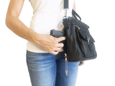Genuine Leather Concealment Purse with Buckle