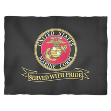 "LIMITED EDITION USMC ""Served With Pride"" Fleece Blanket - 50% OFF WHILE SUPPLIES LAST! - Veteran Tees - 1"