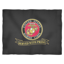 "LIMITED EDITION USMC ""Served With Pride"" Fleece Blanket - 50% OFF WHILE SUPPLIES LAST! - Veteran Tees - 3"