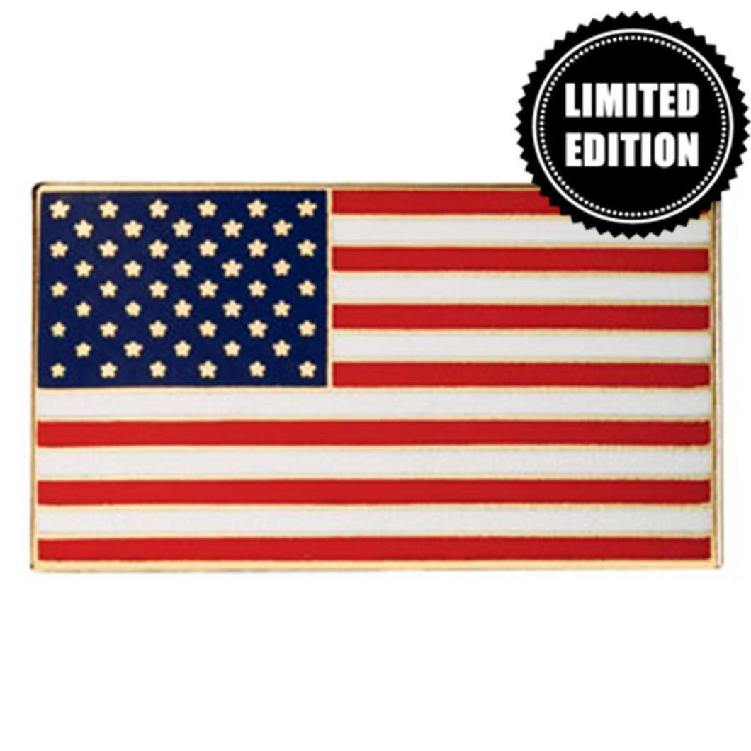 Limited Edition USA Flag Pin 1.25