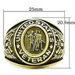 LIMITED EDITION MEN'S GOLD PLATED STAINLESS STEEL UNITED STATES VETERAN Ring - 75% OFF & FREE SHIPPING THIS WEEK ONLY! - Veteran Tees - 3
