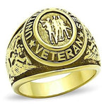 LIMITED EDITION MEN'S GOLD PLATED STAINLESS STEEL UNITED STATES VETERAN Ring - 75% OFF & FREE SHIPPING THIS WEEK ONLY! - Veteran Tees - 2