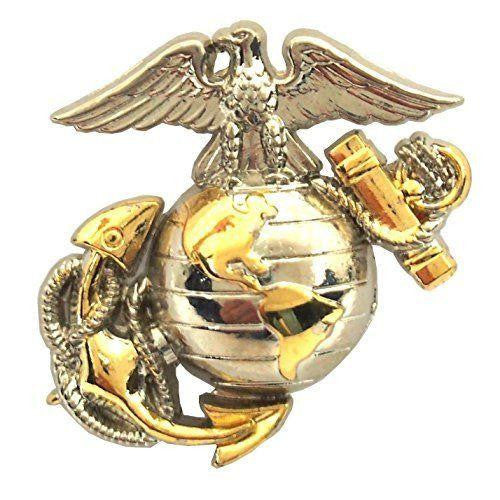 LIMITED EDITION USMC CORPS GOLD SILVER EMBLEM LAPEL PIN - FREE SHIPPING WHILE SUPPLIES LAST! - Veteran Tees - 1