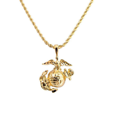 "LIMITED EDITION 20"" GOLD USMC MARINE CORPS CHAIN - 70% OFF & FREE SHIPPING WHILE SUPPLIES LAST - Veteran Tees - 1"