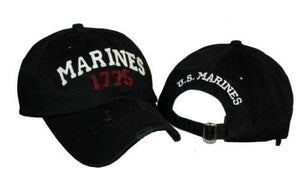 Embroidered Black Marines USMC Marine Baseball Cap - FREE SHIPPING - Veteran Tees