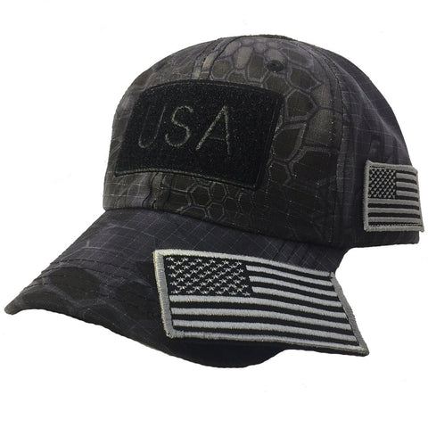 Kryptek Tactical Operator USA Hat w/ Detachable USA Patch