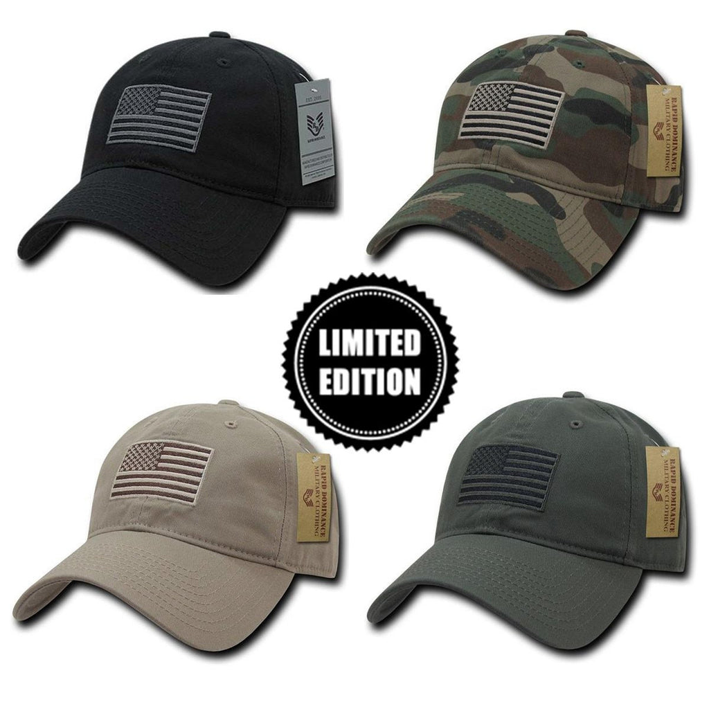 American USA Flag Patch United States America Baseball Hat Cap TRUCKER Khaki Tan