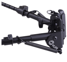 B-Tac 6-9 Inch Tactical Bipod Adjustable Spring Return with Adapter