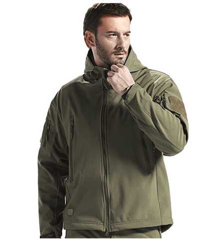 B-Tac Waterproof Softshell Hooded Tactical Jacket