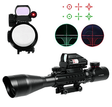 B-Tac 4-12X50 Tactical Optic with Holographic 4 Reticle Sight & Red Dot