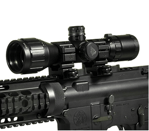 "3-9X32 1"" Raptor Optic, AO, RGB Mil-dot, QD Rings"