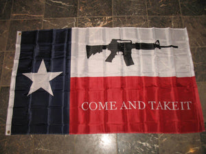 3x5 ft NRA AR-15 Texas Come and Take it Flag 3'x5' House Banner - FREE SHIPPING - Veteran Tees - 2