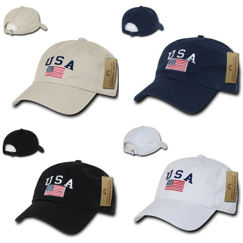 LIMITED EDITION; USA American Flag Baseball Cap - Veteran Tees - 1