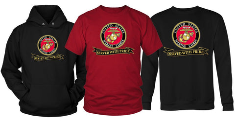 "Limited Edition USMC ""Served With Pride"" Shirt, Sweatshirt, Hoodie - 30% OFF WHILE SUPPLIES LAST! - Veteran Tees - 1"