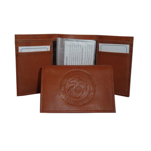 LIMITED EDITION United States Marine Corps USMC Leather TriFold Wallet - 50% OFF & FREE SHIPPING WHILE SUPPLIES LAST! - Veteran Tees - 2