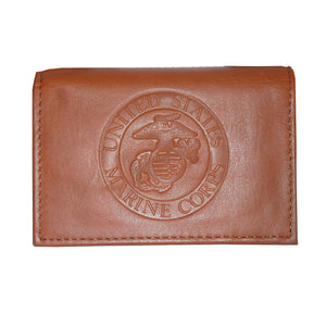 LIMITED EDITION United States Marine Corps USMC Leather TriFold Wallet - 50% OFF & FREE SHIPPING WHILE SUPPLIES LAST! - Veteran Tees - 1