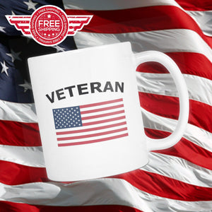 LIMITED EDITION Veteran American Flag Coffee Mug - Veteran Tees - 1