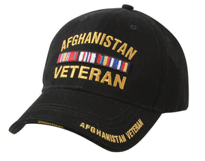 Deluxe Military Veterans Low Profile Hat Black Adjustable Cap - Veteran Tees - 2