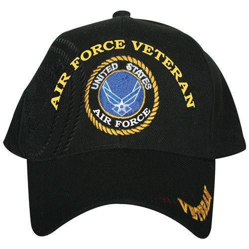 LIMITED EDITION US Air Force Veteran Shadow Embroidered Baseball Cap - 40% OFF WHILE SUPPLIES LAST! - Veteran Tees