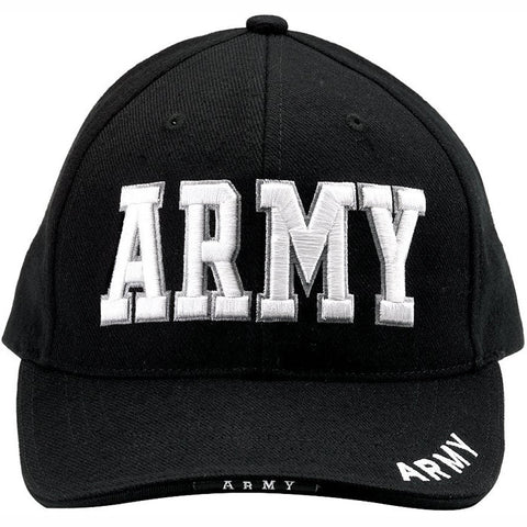 Black - ARMY Deluxe Adjustable Cap - Veteran Tees