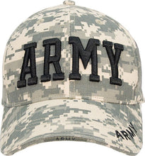ACU Digital Camouflage - ARMY Deluxe Adjustable Cap with Black Lettering - Veteran Tees - 2