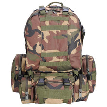 55L Military Grade Tactical Backpack w/ 3 Molle Pouches