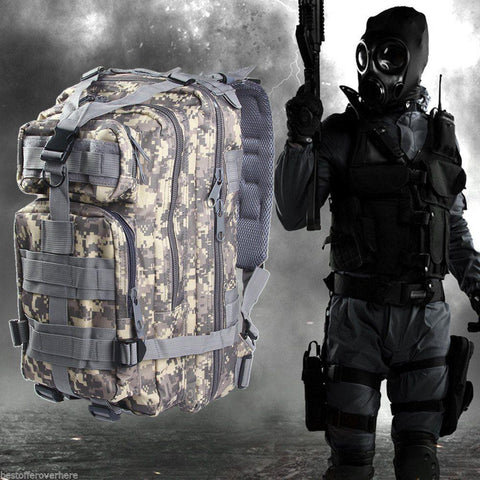 Punisher Military Tactical Sport Backpack - FREE SHIPPING - Veteran Tees - 1