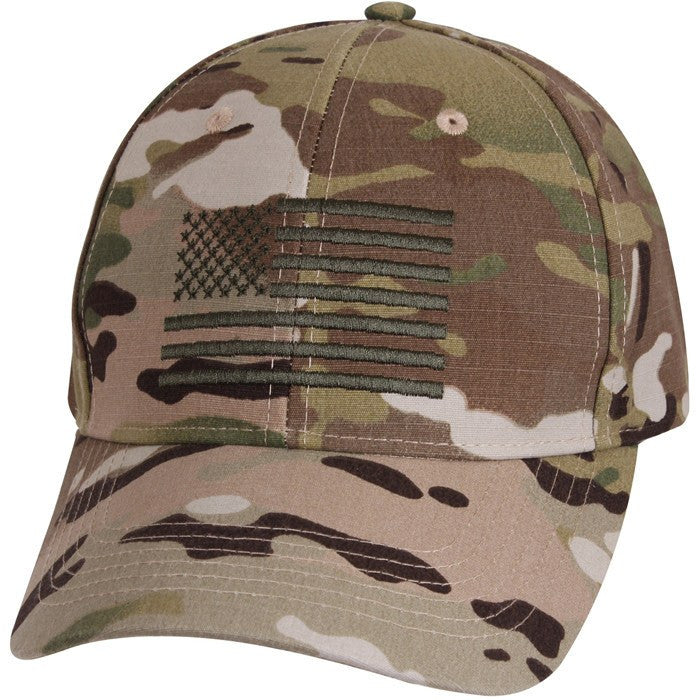 MultiCam US Flag Low Profile Cap - Veteran Tees - 1