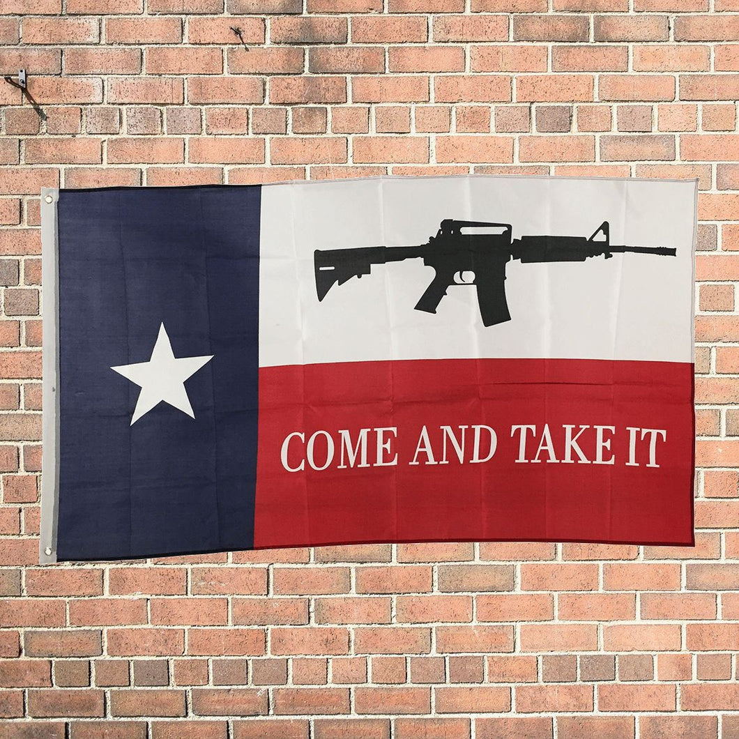 3x5 ft NRA AR-15 Texas Come and Take it Flag 3'x5' House Banner - FREE SHIPPING - Veteran Tees - 1