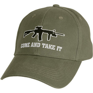 Olive Drab - Come and Take It Deluxe Low Profile Cap - Veteran Tees