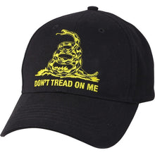 Black - Don't Tread On Me Low Profile Adjustable Cap - Veteran Tees - 1