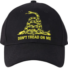 Black - Don't Tread On Me Low Profile Adjustable Cap - Veteran Tees - 2
