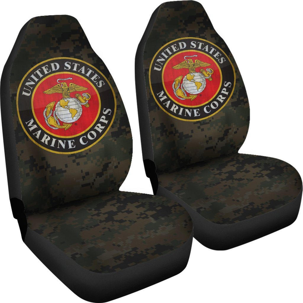 limited edition usmc seat covers set of 2 military tees