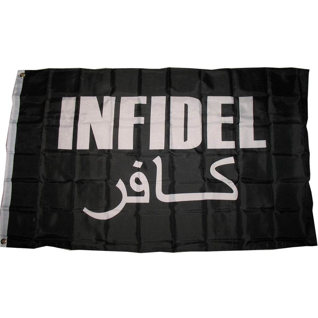 LIMITED EDITION 3x5 Black Infidel Flag - 50% OFF & FREE SHIPPING WHILE SUPPLIES LAST - Veteran Tees