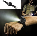 Tactical Rechargeable Wrist Watch Flashlight Torch - 50% OFF & FREE SHIPPING WHILE SUPPLIES LAST! - Veteran Tees - 1